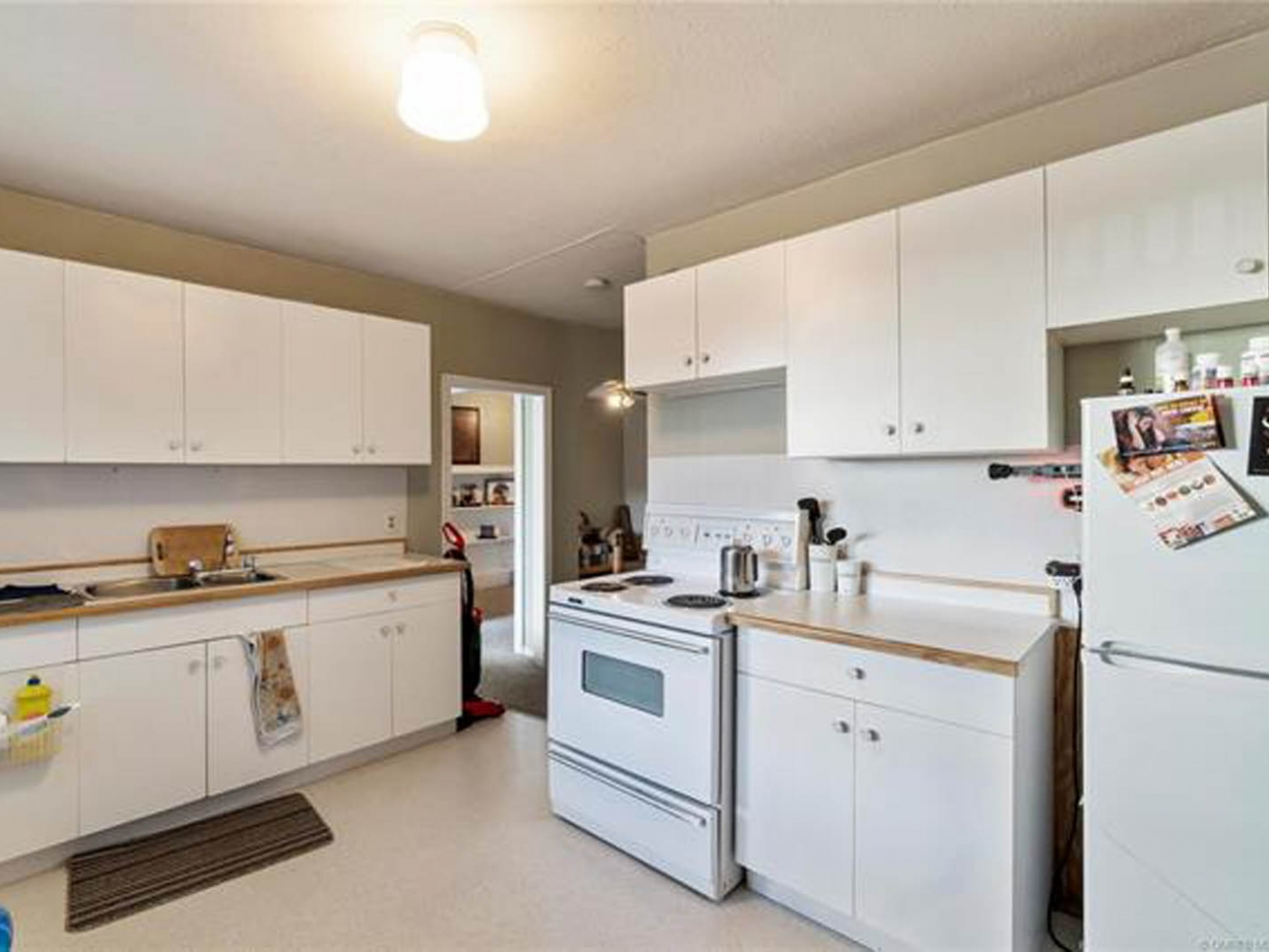 Retail space plus 2 apartment units is a business for sale in BC.